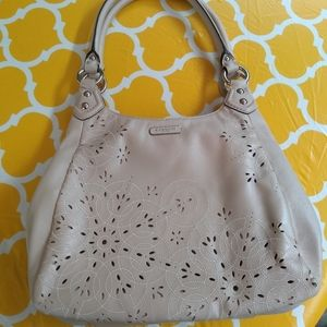 COACH ASHLEY TOSSED LEATHER LASER CUT HOBO F22485